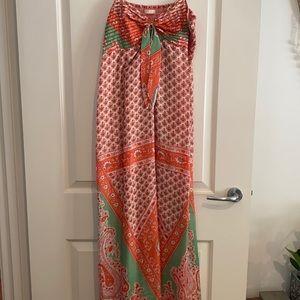 Lola Australia Silk maxi dress size M